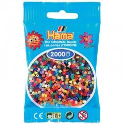 Hama - Mini - 50100 - Koraliki Mix 00 - Zestaw Uzupełniający 2000 szt.