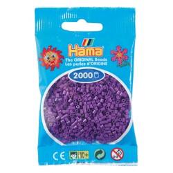 Hama - Mini - 50107 - Koraliki Fioletowe - Zestaw Uzupełniający 2000 szt.