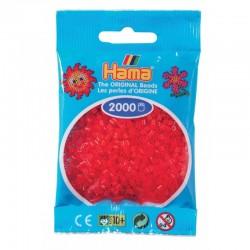 Hama - Mini - 50113 - Koraliki Czerwone Transparentne - Zestaw Uzupełniający 2000 szt.