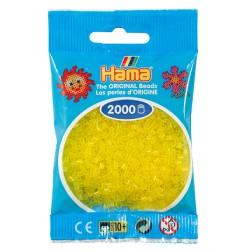 Hama - Mini - 50114 - Koraliki Żółte Transparentne - Zestaw Uzupełniający 2000 szt.