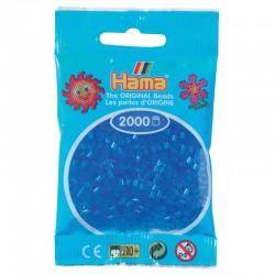 Hama - Mini - 50115 - Koraliki Niebieskie Transparentne - Zestaw Uzupełniający 2000 szt.