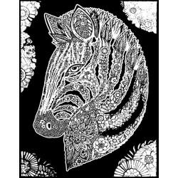 WELWETOWE KOLOROWANKI Obrazek do Pokolorowania KOŃ ZEBRA 5001