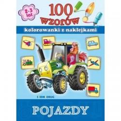 Wydawnictwo Siedmioróg KOLOROWANKI Z NAKLEJKAMI Pojazdy 51793