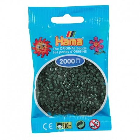 Hama - Mini - 50128 - Koraliki Ciemna Zieleń - Zestaw Uzupełniający 2000 szt.