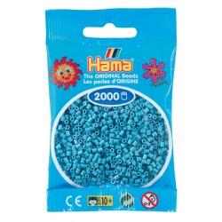Hama - Mini - 50131 - Koraliki Jasne Niebieskie - Zestaw Uzupełniający 2000 szt.