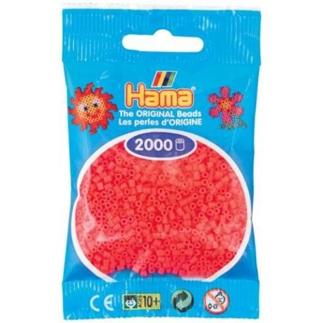 Hama - Mini - 50133 - Koraliki Pomarańczowe Neonowe - Zestaw Uzupełniający 2000 szt.