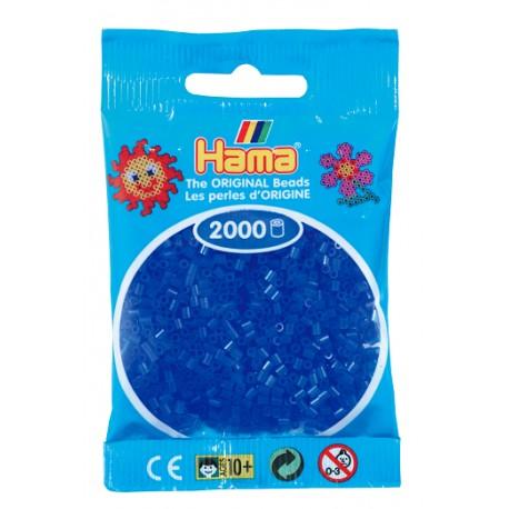 Hama - Mini - 50136 - Koraliki Niebieskie Neonowe - Zestaw Uzupełniający 2000 szt.