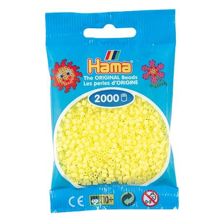 Hama - Mini - 50143 - Koraliki Żółte Pastelowe - Zestaw Uzupełniający 2000 szt.
