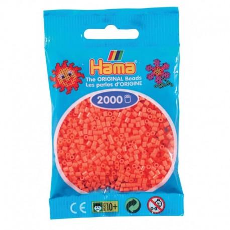 Hama - Mini - 50144 - Koraliki Czerwone Pastelowe - Zestaw Uzupełniający 2000 szt.
