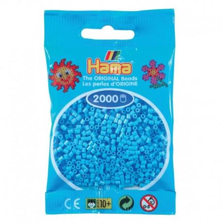 Hama - Mini - 50146 - Koraliki Niebieskie Pastelowe - Zestaw Uzupełniający 2000 szt.