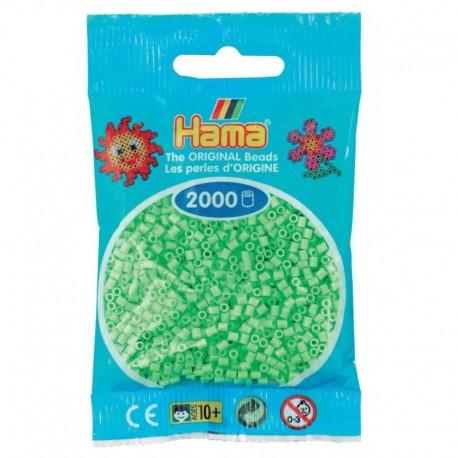 Hama - Mini - 50147 - Koraliki Zielone Pastelowe - Zestaw Uzupełniający 2000 szt.