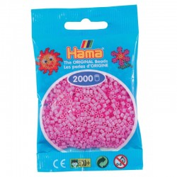 Hama - Mini - 50148 - Koraliki Różowe Pastelowe - Zestaw Uzupełniający 2000 szt.