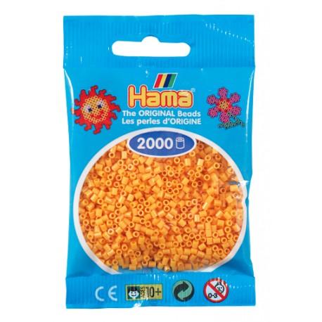 Hama - Mini - 50160 - Koraliki Jasny Pomarańczowy - Zestaw Uzupełniający 2000 szt.