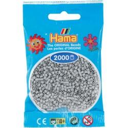 Hama - Mini - 50170 - Koraliki Jasny Popielaty - Zestaw Uzupełniający 2000 szt.