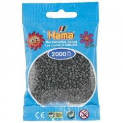 Hama - Mini - 50171 - Koraliki Ciemny Popielaty - Zestaw Uzupełniający 2000 szt.