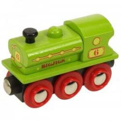 Bigjigs Toys - BJT424 - Lokomotywa - Zielona
