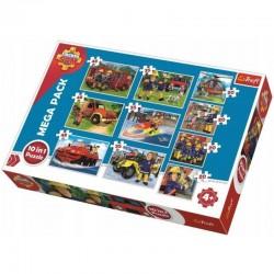 TREFL Puzzle Układanka 10w1 Ekipa Ratunkowa STRAŻAK SAM 90356