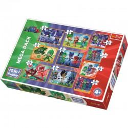 TREFL Puzzle Układanka 10w1 DZIELNI PIDŻAMERSI 90357