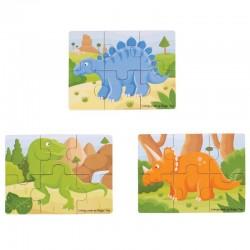 Bigjigs Toys Puzzle DINOZAURY BJ816
