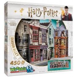 WREBBIT Puzzle 3D Harry Potter ULICA POKĄTNA 450el. 01010