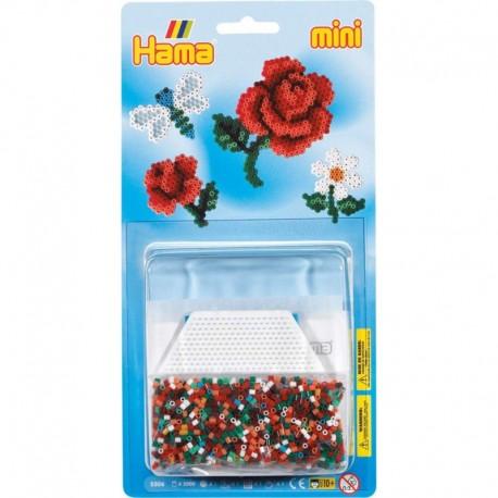 Hama - Mini - 5506 - Zestaw 2000 szt. - Kwiaty