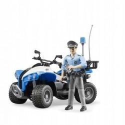 BRUDER Quad Policyjny + Figurka Policjanta 63010