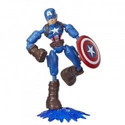 Hasbro Marvel AVENGERS Figurka KAPITAN AMERYKA Bend and Flex E7869