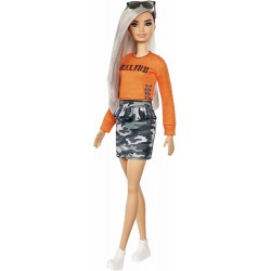 MATTEL Lalka Barbie Fashionistas LALKA NR 107 FXL47