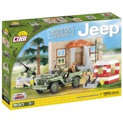 COBI 24302 MAŁA ARMIA Jeep z Kwaterą