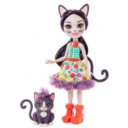 MATTEL Enchantimals Lalka i Zwierzątko Ciesta Cat i Climber GJX40