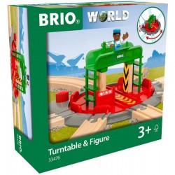 BRIO Mechaniczna Obrotnica z Figurką 33476