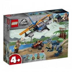 LEGO JURASSIC WORLD 75942 Velociraptor: Na Ratunek Dwupłatowcem