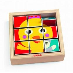 DJECO Drewniane Puzzle Obrotowe 01954