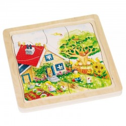 Goki - 57684 - Puzzle Drewniane 54 - Puzzle Warstwowe - Pory Roku