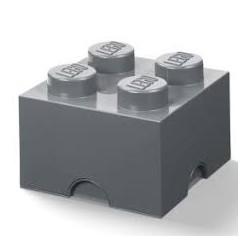 LEGO Pojemnik 4 na Zabawki Ciemnoszary