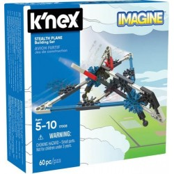 K'NEX IMAGINE Klocki Konstrukcyjne 60 Elementów SAMOLOT STEALTH 17008