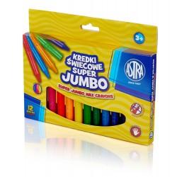 ASTRA Kredki Kredki Świecowe 12 Kolorów SUPER JUMBO 2978