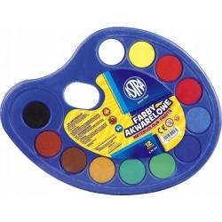 ASTRA Farby Akwarelowe 12 Kolorów PALETKA 0182