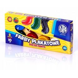 ASTRA Farby PLAKATOWE w Kubeczkach 8 Kolorów 10 ml 0522
