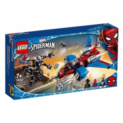 LEGO 76150 Marvel SPIDER-MAN Pajęczy Odrzutowiec kontra Mech Venoma 76150