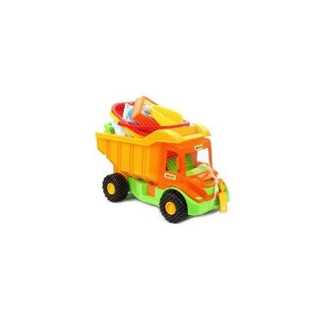WADER - 70340 - Pojazdy - Multi Truck - Wywrotka z Kompletem do Piasku na Wiaderku