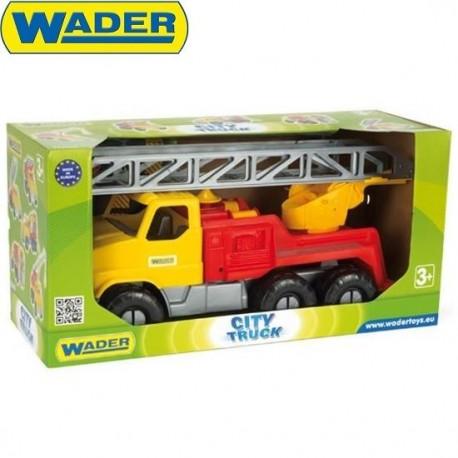 WADER - 32600 - Pojazdy - City Truck - Ciężarówka z Drabiną