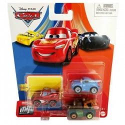 Mattel CARS AUTA Mini Racers Zestaw 3 Samochodzików ZYGZAK SALLY ZŁOMEK GKG65