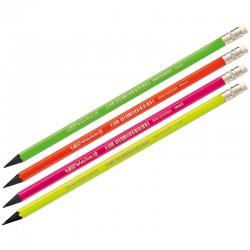 BIC Ołówek Evolution Fluo z Gumką Czarne Drewno 25804