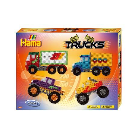 Hama - Midi - 3132 - Zestaw 4000 szt. - Ciężarówki