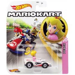 Hot Wheels Mariokart Samochodzik Księżniczka Peach GJH58
