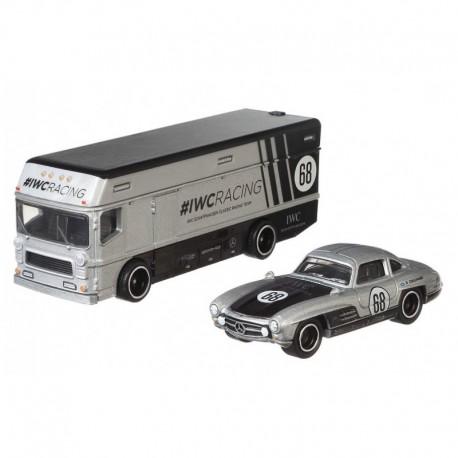HOT WHEELS Car Culture Team Transport MERCEDES BENZ 300 SL & EURO HAULER GJT43
