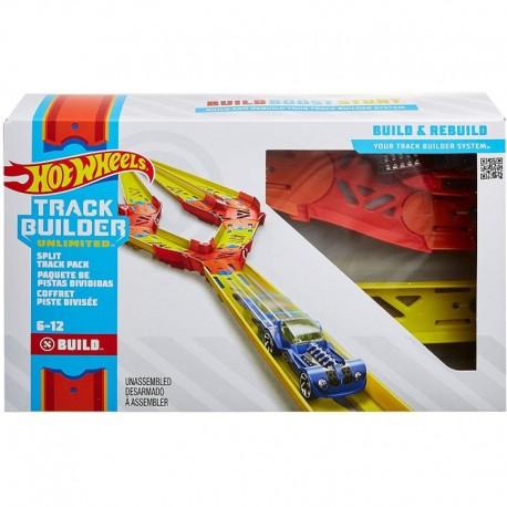 MATTEL Hot Wheels Track Builder ZESTAW TORÓW DO ROZBUDOWY Z ROZGAŁĘZIENIEM GLC94