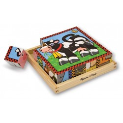 Melissa & Doug - 10775 - Klocki - Puzzle Drewniane - Farma