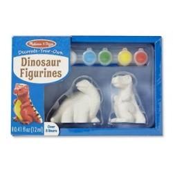 Melissa & Doug - 18868 - Malowanie Figurek - Zestaw do Ozdabiania - Figurki Dinozaurów - Dinozaury